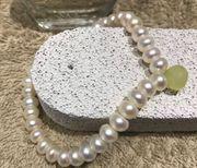 Damen Perlenarmband Süsswassperlen weiß Neu