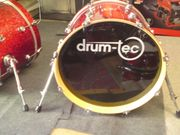 Drum-tec Diablo Red Sparkle Bassdrum