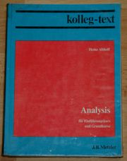 Mathematik-Buch Analysis - Kolleg-Text - Oberstufe Gymasium