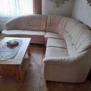 Wohnzimmer COUCH mit Sessel für