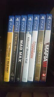 7 x PS4 Spiele