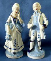 Zierporzellan - ein barockes Porzellanpärchen