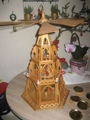 XXL Holz Weihnachtspyramide 60 cm