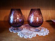 2 Cognac-Schwenker mit schönem Schliff
