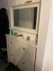 Schuhschrank 4 Fächer mit Spiegel