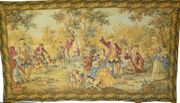 Gobelin antik Jagdbildteppich 115x69 G029