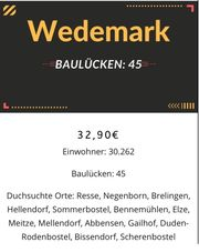 Baulücken in der Gemeinde Wedemark
