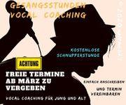 Vocal Coaching Gesangsunterricht jetzt auch