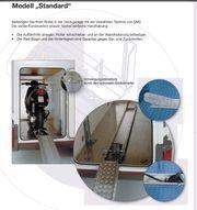 Motorradhalterung für Wohnmobilgarage oder Heckträger