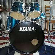 Schlagzeug Tama Imperialstar Hairline blue