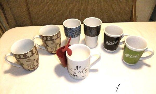 6 große Tassen Kaffeebecher wie