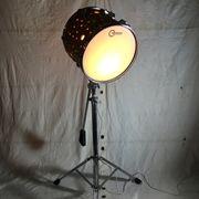 Upcycling Designerlampe Stehlampe Schlagzeuglampe ONE