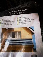 Balkon-Sichtschutz - UV-resistent