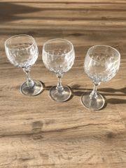 glitzerndes Bleikristall Weinglas