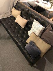 Splitback Leder-Sofa Marke INNOVATION zu