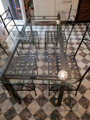 Esstisch Glas mit 4 Stühlen