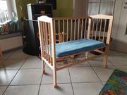 Baby Beistellbett höhen-verstellbar Holz natur