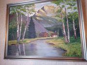 Ölbild Landschaft aus den 40ern