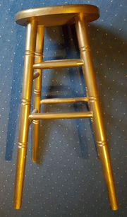 Hocker Barhocker goldfarben stabil