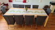 Esszimmertisch und 10 Stühle