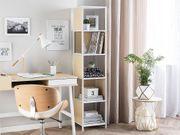 Bücherregal weiß heller Holzfarbton BOGOTA