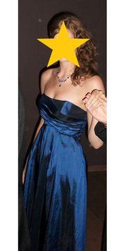 Indigoblaues Ballkleid Abendkleid mit Stola
