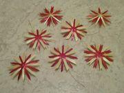 Strohsterne natur mit rot 3