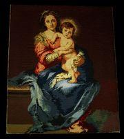 2 x Religiös Bilder handarbeit