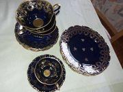 Lindner Kaffeegeschirr echt Kobalt