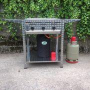 Gastro Gas-Grill 3-flammig Schwarzblechpfanne 2