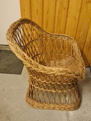 Geflochtener Holz Kinder Stuhl