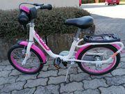 puky Kinderfahrrad 16 Zoll weiß-pink