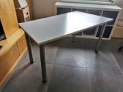Schreibtisch hellgrau Maße ca 140