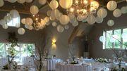 Nylon Lampions wetterfeste Hochzeitsdekoration LED