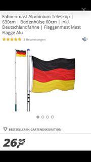 Fahnenmast mit Fahne 2 Stück