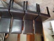4 Stühle in Lederoptik zu