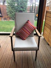 Design Gartenstühle Metall Eiche