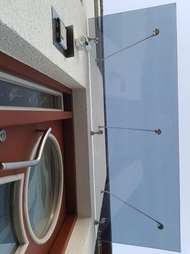 Sonstiges Material für den Hausbau - Glas für Vordach ohne Zugstreben