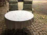 1 runder Garten Tisch 1