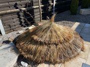 Strohschirm - Sonnenschirm mit Standrohr aus