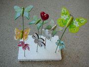 Verkaufe 10 Blumenstecker Schmetterlinge Blumen