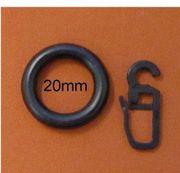 Kunststoffringe schwarz 20 x 32mm