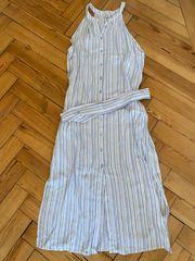 Sommerkleid Kleid Hellblau gestreift S