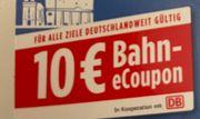 Deutsche Bahn 10EUR Gutschein Sofortversand