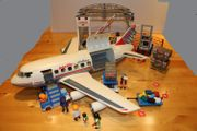 Playmobil Verkehrsflugzeug Cargohalle Cargofahrzeug Follow
