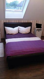 Leder-Bett mit Lattenrost