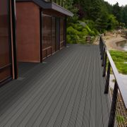 WPC Terrassendielen massiv hellgrau Prime-Qualität