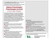 Diplom-Psychologe m w d