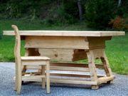 Jogltisch Massivholz großer Tisch für