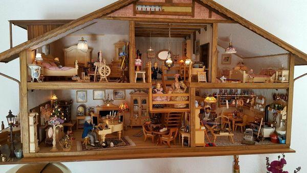 Puppenhaus Puppenstube 5 Zimmer Möbel